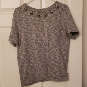 Loft jeweled shirt. Size M.